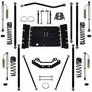 "Long Arm Lift Kits - 3.5"" Systems - Rock Krawler Suspension - 3.5 Lift Kit Off-Road Pro Long Arm System W/Remote Reservoir Shocks Stg 2 03-06 Wrangler TJ Rock Krawler"