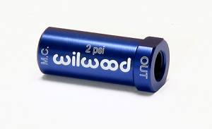 Wilwood  - Wilwood Residual Pressure Valve, Blue Anodized, 2 psi, Disc Brakes, 1/8 in. NPT Female Inlet/Outlet WIL-260-13706
