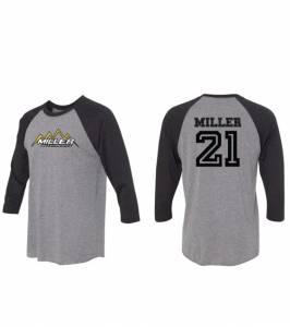 Miller Motorsports - Miller Motorsports Baseball T Shirt #21