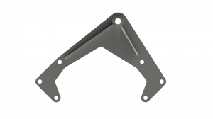Miller Motorsports - LS Idler Pulley Mounting Bracket - Zinc Coated, MM-IPMB