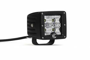 "Accessories - Lighting - KC HiLiTES - KC HiLiTES 3"" C-Series C3 LED Flood Beam Black Pair Pack System - #332 332"